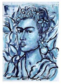 Retrato de Frida Kahlo - 2006 ASPC - 45x32