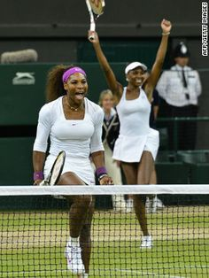 Serena's London experience got even better a few hours after her singles win as she & Venus took the ladies doubles crown -- their fifth Wimbledon doubles title.