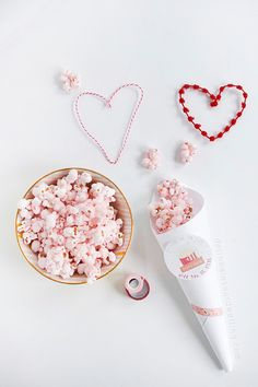 Simple and fun to make Pink Popcorn Valentine's Day and Printable, Delineate Your Dwelling