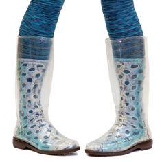 peek•a•boots (clear rain boots let you show off hand-knit socks, designer tights, etc.) https://www.flickr.com/photos/heathashli/8638531783