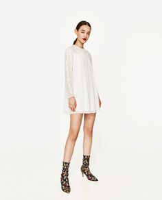 ZARA - WOMAN - PLUMETIS DRESS WITH EMBROIDERED FLOWERS