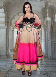 Celestial Look Net Ankle Length Anarkali Suit