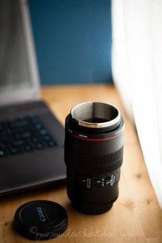 Canon and Nikon Camera Lens MUG! Wish it were bigger