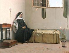 Träumerei in der Klosterzelle