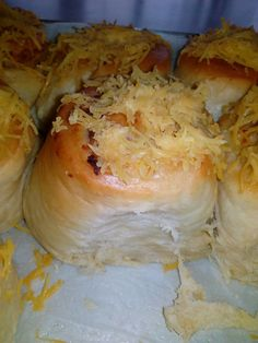 Cheese and Tuna Swirls, used evap milk instead of water resulted to creamy, super soft bread dough. Retarding dough overnight did help too. Popsugar Food, Tuna, Kos, Swirls, Milk, Bread, Cheese, Water, Recipes