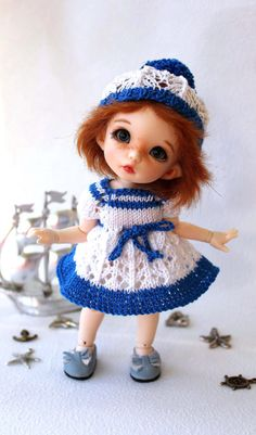 """Outfit """"I dream about the cruise"""" dolls format Tiny (PukiFee, Aquarius, Lati Yellow)"""