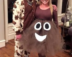 Adult halloween costume, poop emoji costume, funny halloween costume, costume f. Emoji Halloween Costume, Emoji Costume, Homemade Halloween Costumes, Adult Halloween, Halloween Party, Halloween Ideas, Funny Costumes, Tutu Costumes, Adult Costumes