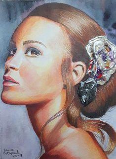 Portret akwarela, pastel, faber-castell, farby pebeo prisme. Mix-media ;)