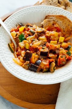 Learn how to make the best French ratatouille with this foolproof recipe! The trick is to roast the vegetables, then add them to a simmering tomato sauce. How To Make Ratatouille, Ratatouille Recipe, Ratatouille Movie, Yellow Squash And Zucchini, How To Cook Eggs, Sans Gluten, Gluten Free, The Fresh, Healthy Recipes