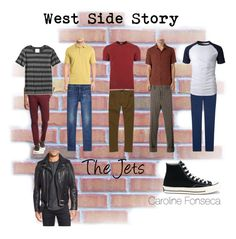 """""""West Side Story: The Jets"""" by emeraldroses on Polyvore featuring art"""