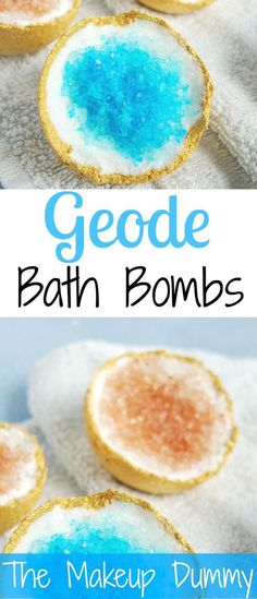 Geode Bath Bombs – THE ORIGINAL RECIPE These look so beautiful! How To make your own DIY Geode inspired Bath Bombs! Tutorial by The Makeup DummyThese look so beautiful! How To make your own DIY Geode inspired Bath Bombs! Tutorial by The Makeup Dummy Mason Jar Crafts, Mason Jar Diy, Homemade Beauty, Homemade Gifts, Homemade Food, Homemade Scrub, Homemade Recipe, Diy Masque, Bath Bomb Recipes