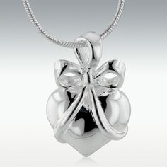 Gift+Of+Love+Heart+Sterling+Silver+Cremation+Jewelry+-Engravable