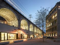 Restoration of the viaduct arches, Zurich 2010. A great urban renewal project that breathes new life to a previously derelict infrastructural barrier.