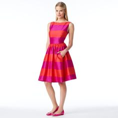 kate spade | striped carolyn dress  I want this to be my style, but I need this reed-thin body!