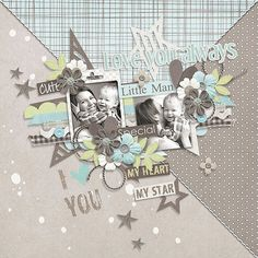 Page made by Conny using Recycle #04 | Templates by Akizo Designs (Digital Scrapbooking layout)