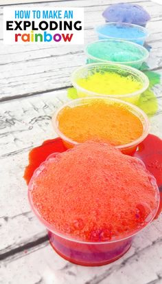 How to make an exploding rainbow. A science fair idea or easy science activity for kids