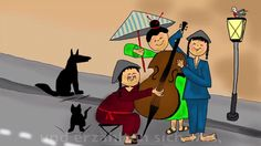 Kinderlieder deutsch - 3 Chinesen mit dem Kontrabass (+playlist)