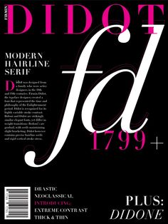 DIDOT! A really amazing and fashionable font. used in the Vogue magazine, as well as that doing a project on that (: