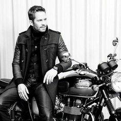 Paul Walker and motorcycle