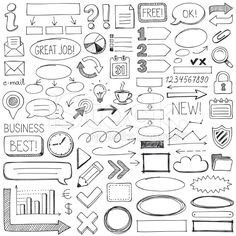 Doodle design elements royalty-free stock vector art