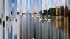 One year in one image    45 photographs of Naurissalmi sliced up into a single photo, January on the left and December on the right. / via @straup