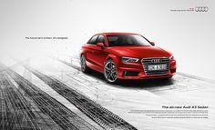 The all-new Audi A3 Sedan by Niklas Lundberg, via Behance