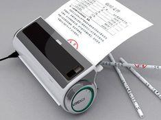 Gadget transforma papel usado em lápis afiados