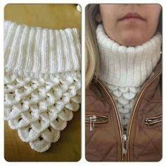 golas de trico Knitted Child Bentie Pompom Beanie - by - Strickmuster Mtze Crochet Scarves, Crochet Shawl, Crochet Clothes, Knit Crochet, Crochet Cowl Free Pattern, Knitting Patterns, Crochet Ideas, Cowl Patterns, Knit Patterns