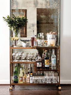 Brian Hart Hoffman vintage bar cart