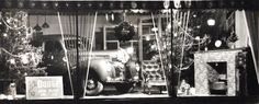 "Sudbury's Fine 'Past & Future' -The ""Gardner Motors"" Christmas Show room window in the year (1939)"