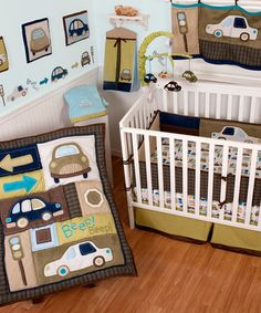 Take a look at this Classic Cars Crib Bedding Set by Sumersault on #zulily today!