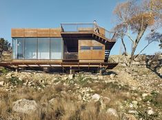 Image 12 of 20 from gallery of Clear Rock Ranch / Lemmo Architecture and Design. Photograph by Casey Dunn Metal Siding, Metal Roof, Interior Exterior, Interior Architecture, Rock Ranch, Writing Studio, Weathering Steel, Container Architecture, Prefab Homes