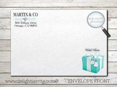 Audrey Hepburn Breakfast at Tiffany's Bridal Shower Invitation