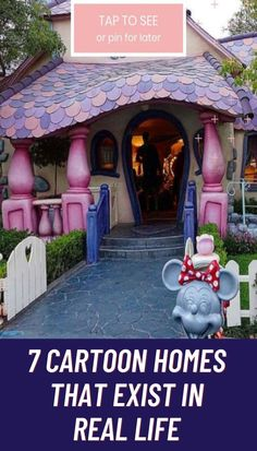 Fans of cartoons and comics have often dreamed of living in their favorite characters' worlds or even dwellings. But did you know that there are real houses out there that have been inspired by our favorite cartoons? Check out these unique dwellings that are quite magical and seem like they're jumping right out of the page of your favorite show.