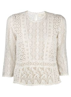 Vanessa Bruno Athe Ivory Lace Top