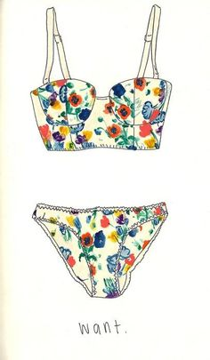Soak up the sun in floral-print bikinis #festivalfashion