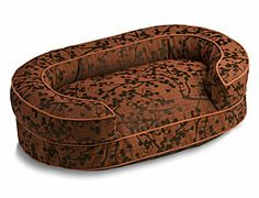 Cherries Oval Bolster Bed - Crypton Beds | Crypton Dog Beds | 30% Off Storewide