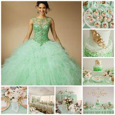 Mint Theme Party | Quinceanera Ideas |