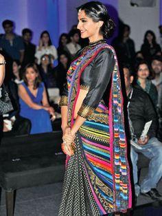 Fashion Week glitters with stars Indian Attire, Indian Wear, Indian Outfits, Indian Style, Indian Ethnic, Bollywood Saree, Bollywood Fashion, Sonam Kapoor Photos, Kareena Kapoor