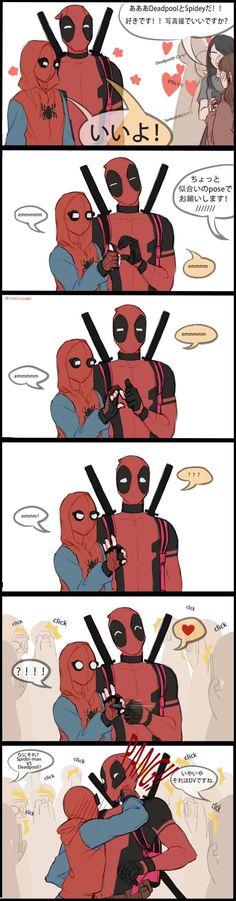 Spideypool, Deadpool X Spiderman, Stony Superfamily, Cute Comics, American Comics, Marvel Art, Avengers Infinity War, Marvel Universe, Fan Art