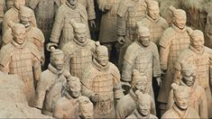 The old walled city of Xi'an, China, is filled with historical buildings. However, the most spectacular attraction is the Army of Terracotta Warriors. Statues, Chinese Armor, Terracotta Army, Oriental, Ancient China, Ancient History, Wonders Of The World, Namaste, Sculpting