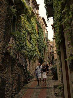 Medieval village of Dolceacqua in Italy