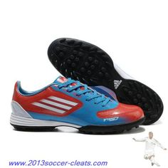 promo code c97da 62f9a Authentic Euro adidas F10 TRX TF Blue Red Black Football Boots Nike Soccer  Shoes, Soccer