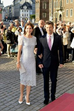 Crown Princess Mary and Crown Prince Frederik of Denmark arrives to the gala performance 2014 at The Royal Theatre
