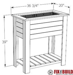 How to build a DIY raised planter box with hidden drainage system. This wooden DIY planter box is easy to build from cedar Video tutorial and plans! Planter Box Designs, Planter Box Plans, Raised Planter Boxes, Garden Planter Boxes, Diy Planters, Planter Pots, Raised Garden Beds, Raised Beds, Potager Palettes
