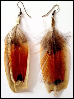 Pheasant Feather earrings by RachyMade on Etsy, Feather Earrings, Drop Earrings, Pheasant Feathers, Etsy, Jewelry, Jewlery, Jewels, Jewerly, Jewelery