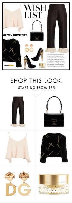 """""""#PolyPresents: Wish List"""" by mariaangeles-g ❤ liked on Polyvore featuring Isa Arfen, Dolce&Gabbana, Topshop, Moschino, Orlane, NARS Cosmetics, contestentry and polyPresents"""