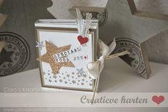 Bloghop Creatieve Harten Koffie boekje www.carooskaartjes.blogspot.nl Stampin' Up!  Rotary Stamp Confetti Stars Punch Stars