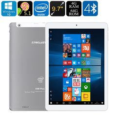 Teclast X98 Pluss 2 Tablet PC - 9.7-Inch Display, 2048x1536p, Windows 10, Android 5.1, Quad-Core CPU, 4GB RAM, OTG, HDMI Out - Teclast X98 Pluss 2 is an absolutely stunning Dual-OS tablet PC that features a beautiful 9.7-Inch 2K Display, Quad-Core CPU, 4GB RAM, and 8000mAh battery.