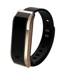 """LUOOV Bluetooth Smart Sports Bracelet Fitness Tracker. Compatibility: requires Android 4.3 or above, iOS 7.0 or above,Bluetooth 4.0.Download APP """"HPlus Watch"""" from Apple Store or Google Play for free. OLED Display: 0.91 inch OLED screen allow you to check time, date, steps, calories, working distance, message easily. Snyc Data: When bluetooth paired, you can sync your data to Andriod/IOS phone. It gives you real-time assessment of your exercise throughout the day. Multi Functions: track..."""